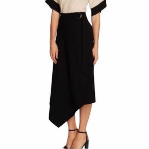 VINCE CAMUTO Textured Twill Asymmetrical Skirt NWT